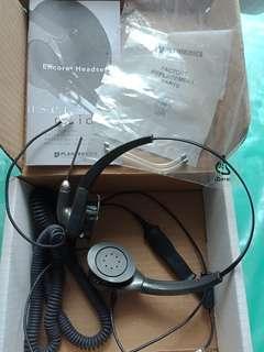 Telephone headset Plantronics Encore Corded - unused voice tube