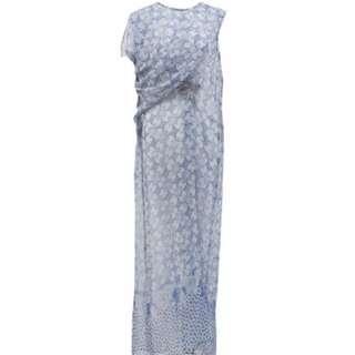 SAVI BLUE BATIK DRAPE LONG DRESS KAFTAN FREE SIZE