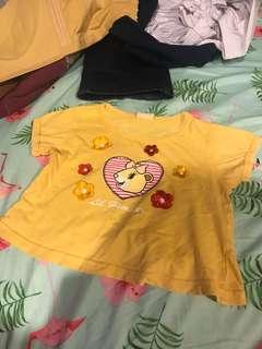 Yellow shirt 1y-2y