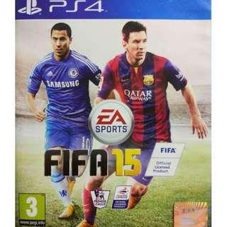 Used Playstation 4 PS4 Fifa 15 Region 2 (NEAREST MRT)