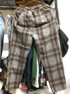 🚚 復古格子褲