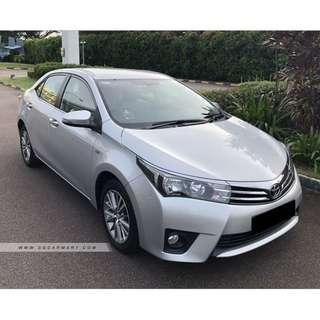 RENTING OUT FAST - Toyota Altis 1.6A (2019 CNY/GRAB/GOJEK/TADA)