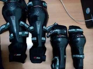 DECKER PRO BIKER AXO Black Pelindung Siku Dan Lutut