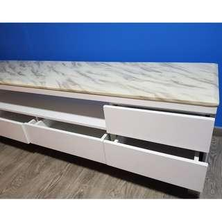 Solid Surface Marble Topped TV Sideboard