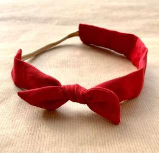 Scarlett // Thick Knotted Headband   Handmade