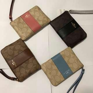 🚚 (Sales) Authentic Coach Wristlet Clutch Wallet With Sling