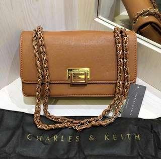 Ck slingbag scross body brown