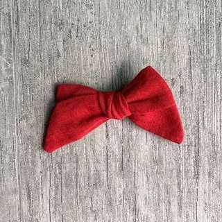 Scarlett // Sailor bow | linen blend | girl hair clip | handmade