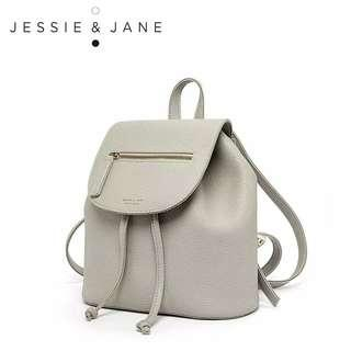 Jessie & Jane Grey Backpack 灰色皮背包