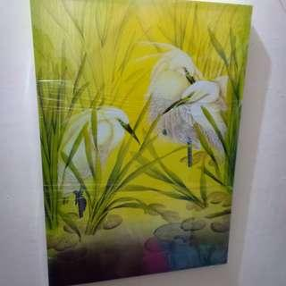 Cattle  Egret Painting