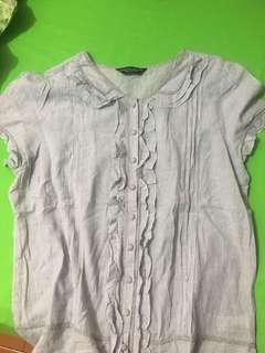 Baby blue Dorothy Perkins pinstriped blouse