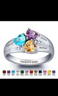 Family ring with birthstones