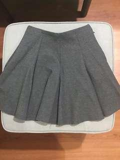 Bottomline grey school girl high waist skirt