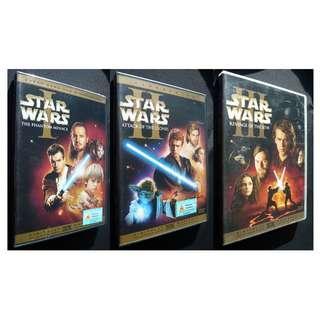 Star Wars Prequel Set (Episodes I II III) DVD Set (Phantom Menace, Attack of the Clones, Revenge of the Sith)