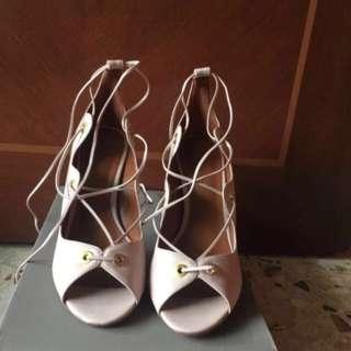 Charles & Keith Lace Up Stilettos Heels
