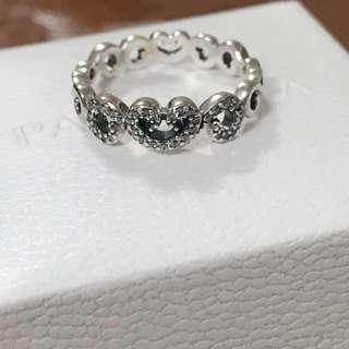 Pandora Heart Swirls Ring Sz 54