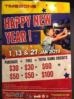 FREE $30 and $50 at Timezone!