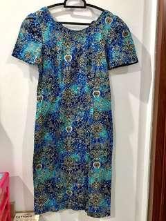 Preloved batik bodycon dress (free size) #bersihbersih