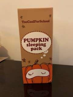 Too Cool For School Pumpkin Night Mask 南瓜面膜