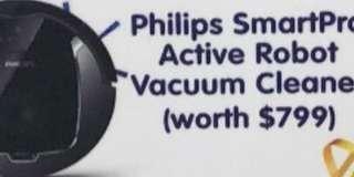 Philips Smartpro Robot Vacuum Cleaner (worth $799)