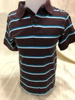 Size 4:  Children's Place Brown & Blue Stripes