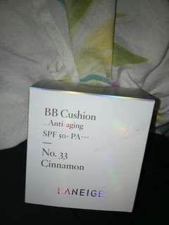 Laneige BB Cushion Anti Aging REFILL in the shade 33 Cinammon (case available)
