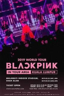 Online Ticketing Service (BLACKPINK IN YOUR AREA KUALA LUMPUR DAY-2 CONCERT TICKET)