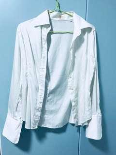 Raoul Semi Slim Fit White Long Sleeve Shirt smart look stylish branded office shirt blouse