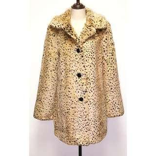 🆕(OP $1,700) NWT New With Tag Marks and Spencer M&S Women's Faux Fur Leopard Print Winter Warm Coat Jacket Size 10 Small Medium 全新 連牌 英國 馬莎 女裝 大衣 外套 褸 冬天 仿毛 仿皮草 豹紋 保暖 細中碼