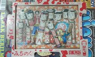 One Piece Mini Puzzle with frame lot of 3