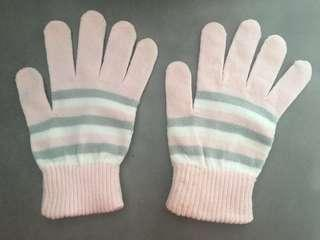 Pink Winter Gloves