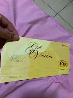 🚚 (No nego) $250 TCC Vouchers ($10 deno)