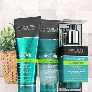 👍REVOLUTIONARY CLEAR FORMULA FOR STRENGHTENED HAIR WITH BEAUTIFUL VOLUME!! John Frieda Luxurious Volume Samples Set |8ml*3