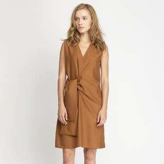 [SALE] Shopatvelvet Pommier Shift V Neck Dress - Black