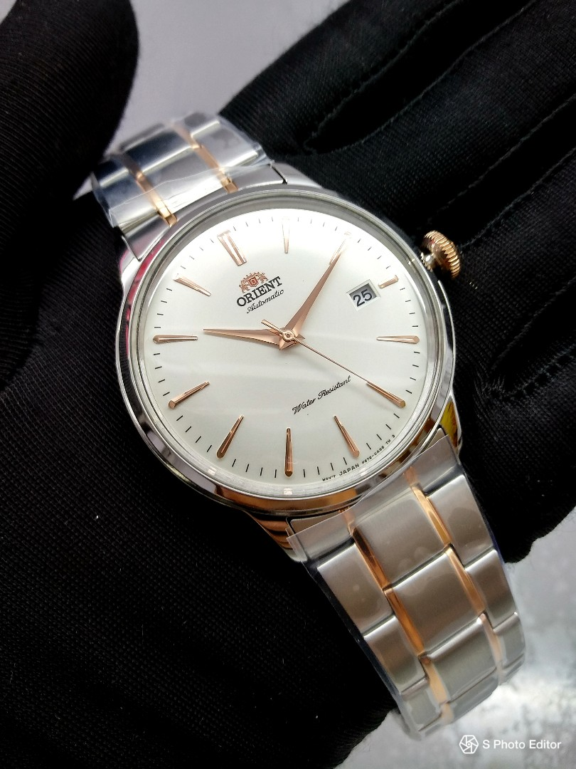 e210e29bc9ee0 FREE DELIVERY   Brand New 100% Authentic Orient Bambino White Dial ...