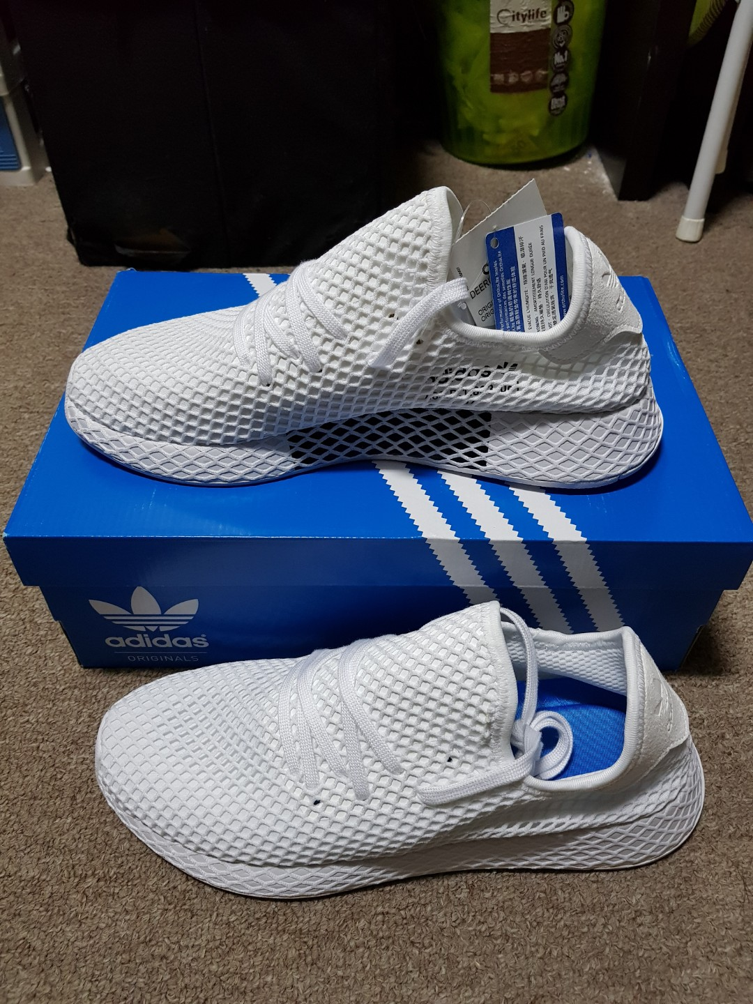 huge selection of e60b2 2c214 Adidas deerupt white(100% Authentic), Mens Fashion, Footwear, Sneakers on  Carousell