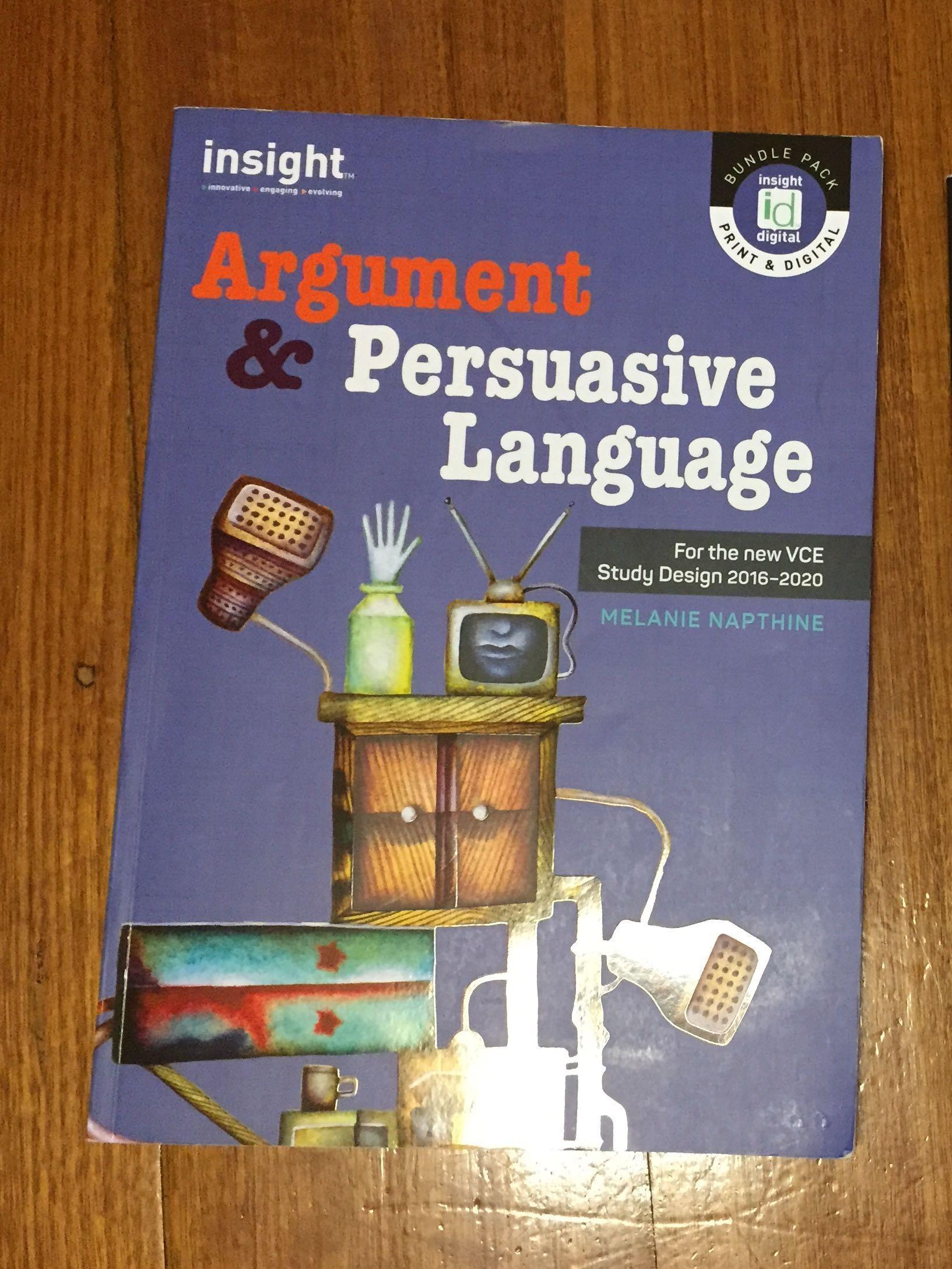 Argument and Persuasive Language ENGLISH VCE Textbook