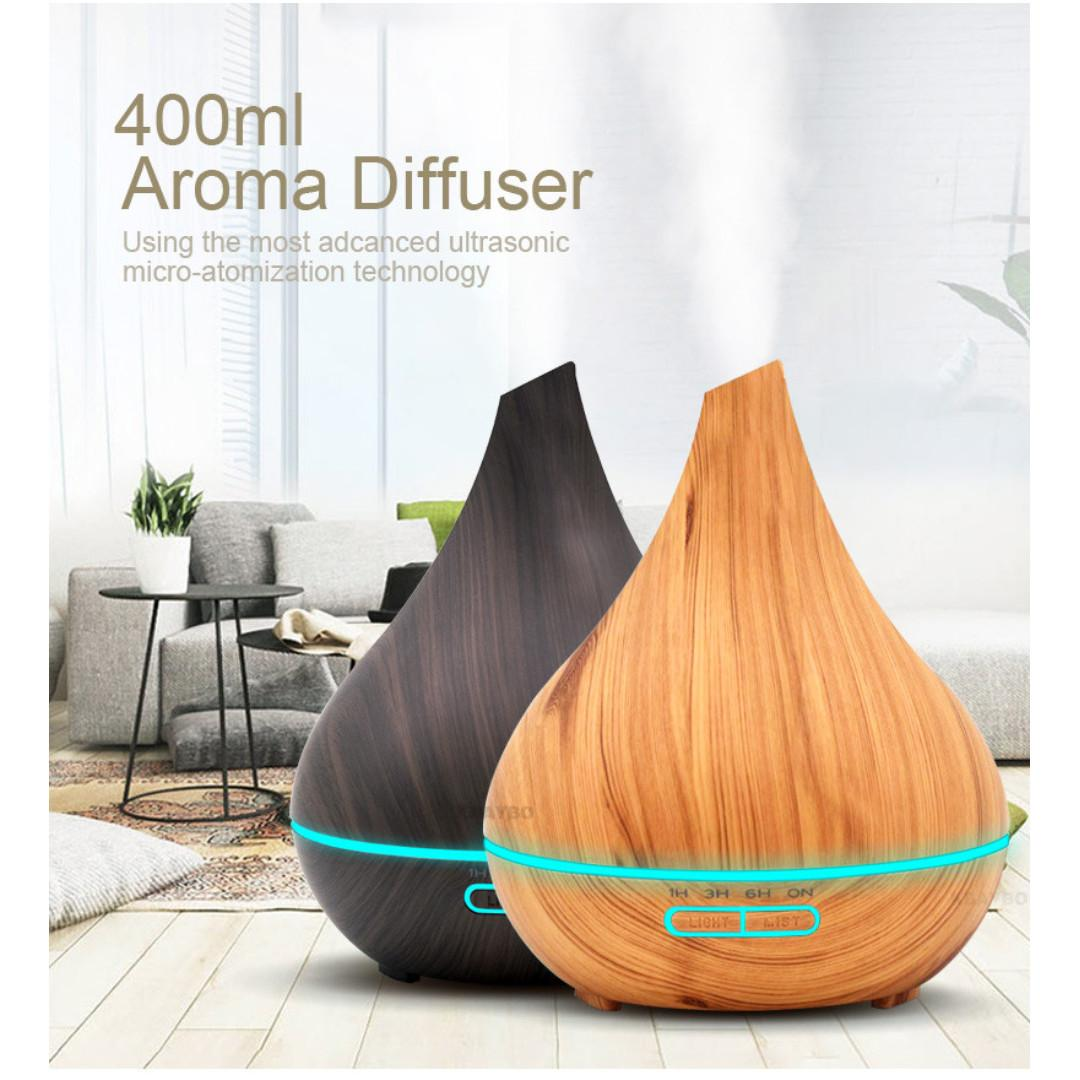 Aroma Diffuser Essential Oil with LED Light 400ml (Glowia)