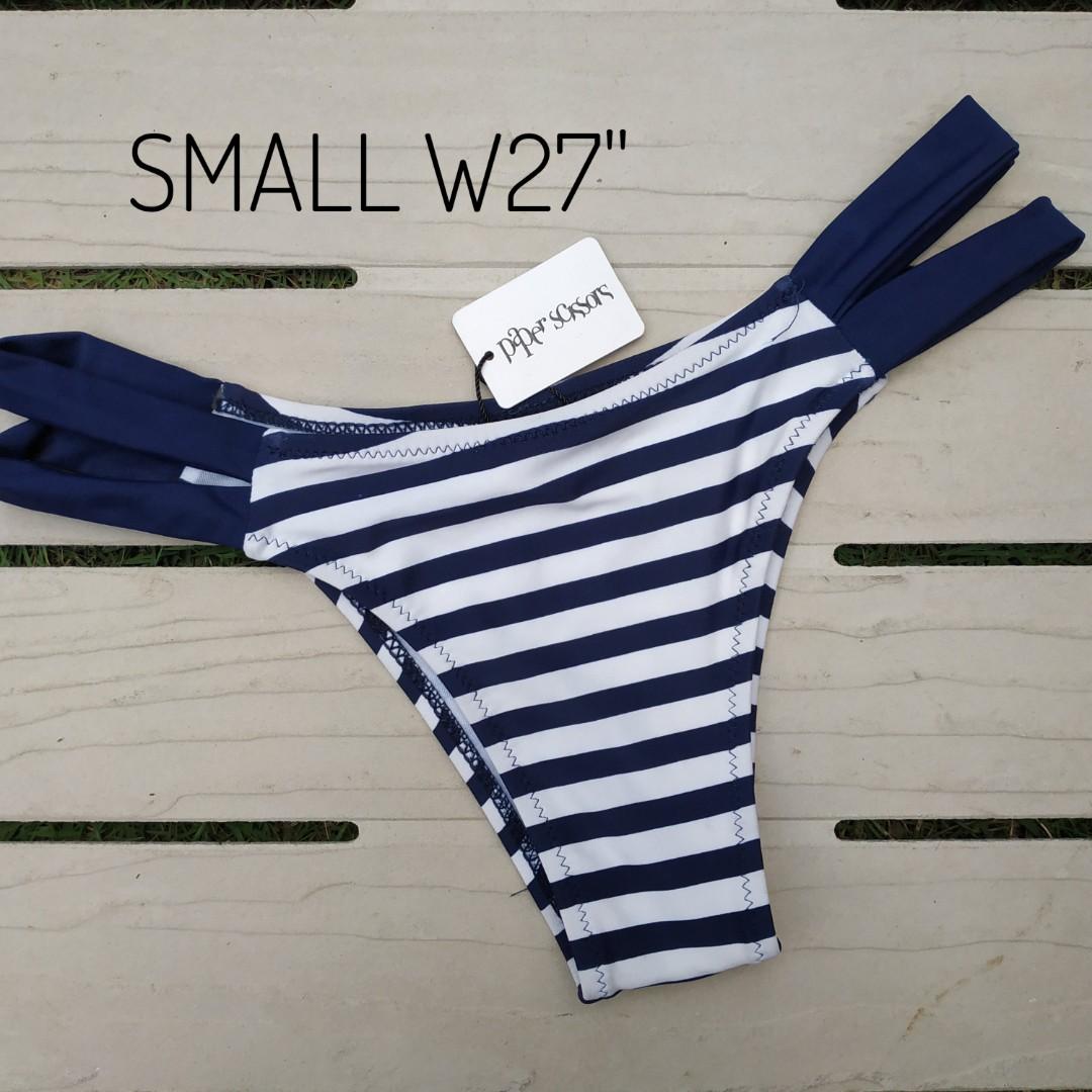 b0c7e0edf8 Bikini Bottom Navy Blue Stripe, Women's Fashion, Clothes, Others on ...