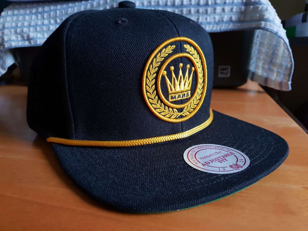 4b3cd582 [AUTHENTIC] Bruno Mars x Mitchell & Ness Cap, Men's Fashion, Accessories,  Caps & Hats on Carousell