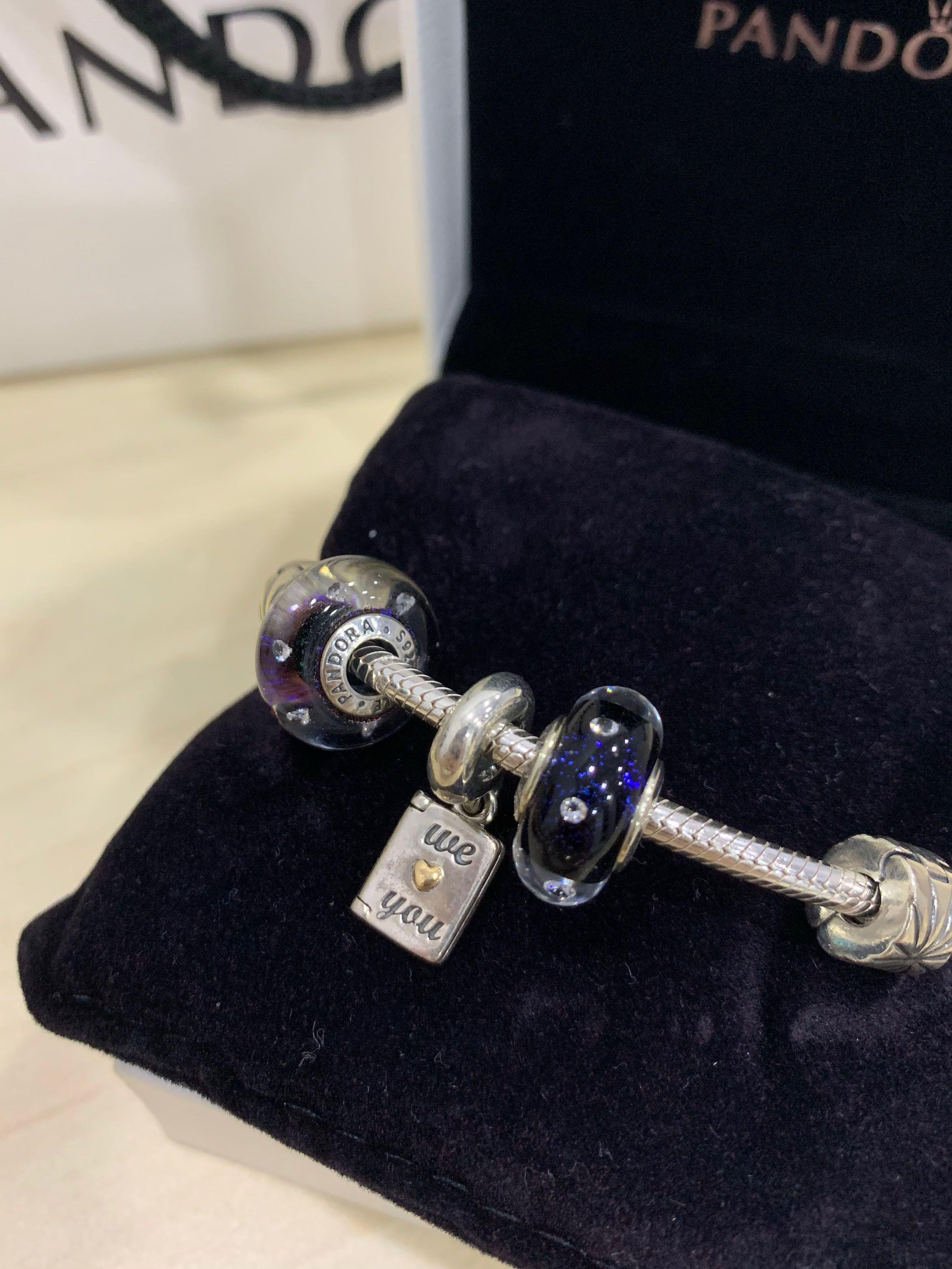 AUTHENTIC Pandora Bracelet with Charms (We Love You)