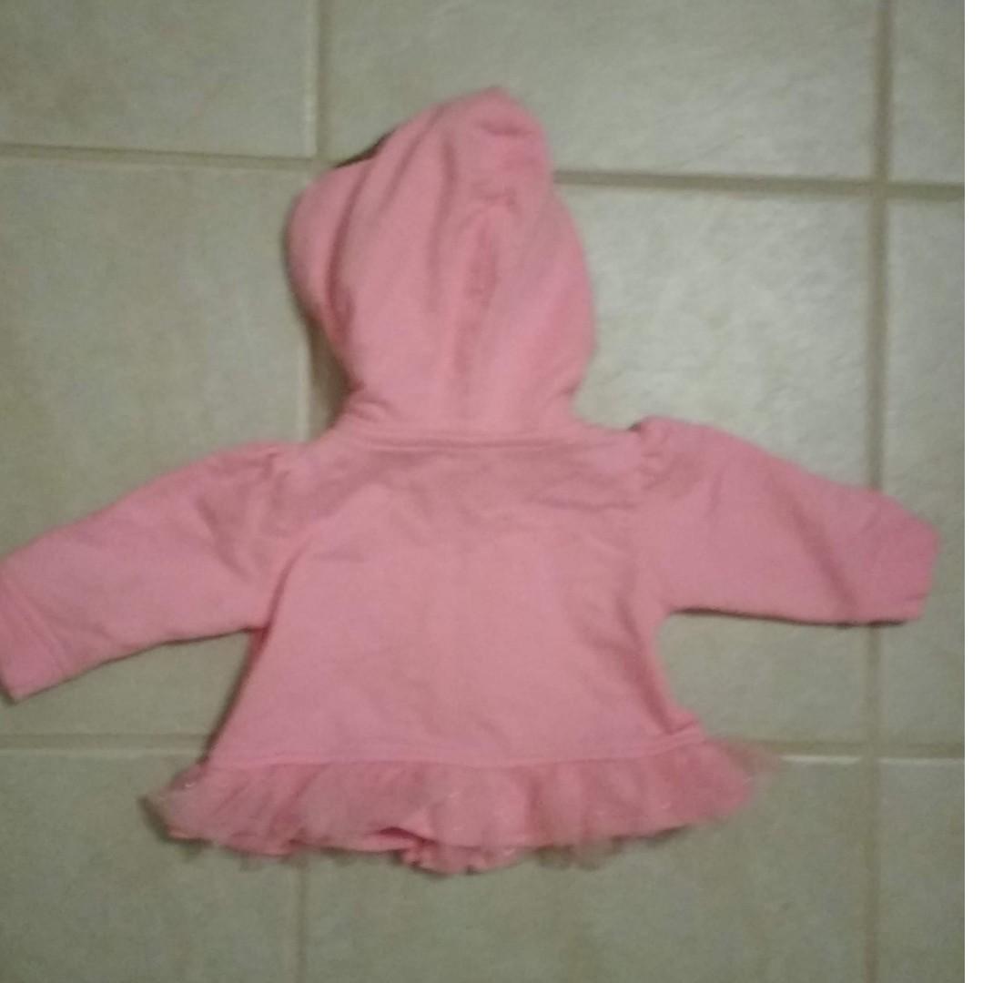 Baby Starters pink monkey hoodie 3 months