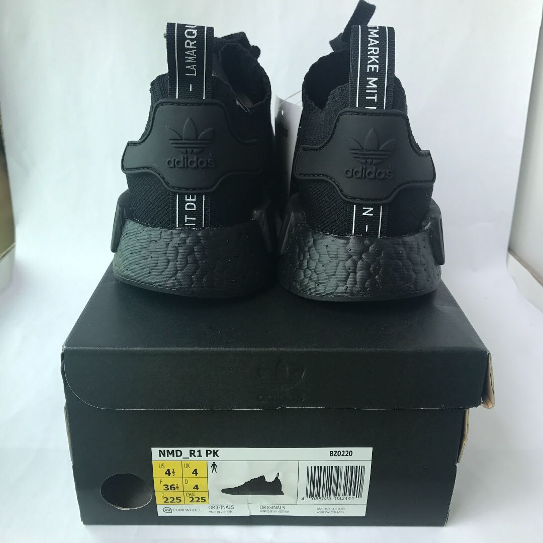 03b4b692d BNIB Authentic Adidas Japan Triple Black Primeknit NMD R1 PK BZ0220 ...