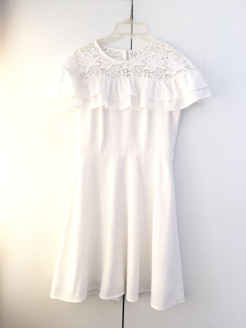 Bread n Butter white ruffle lace with belt