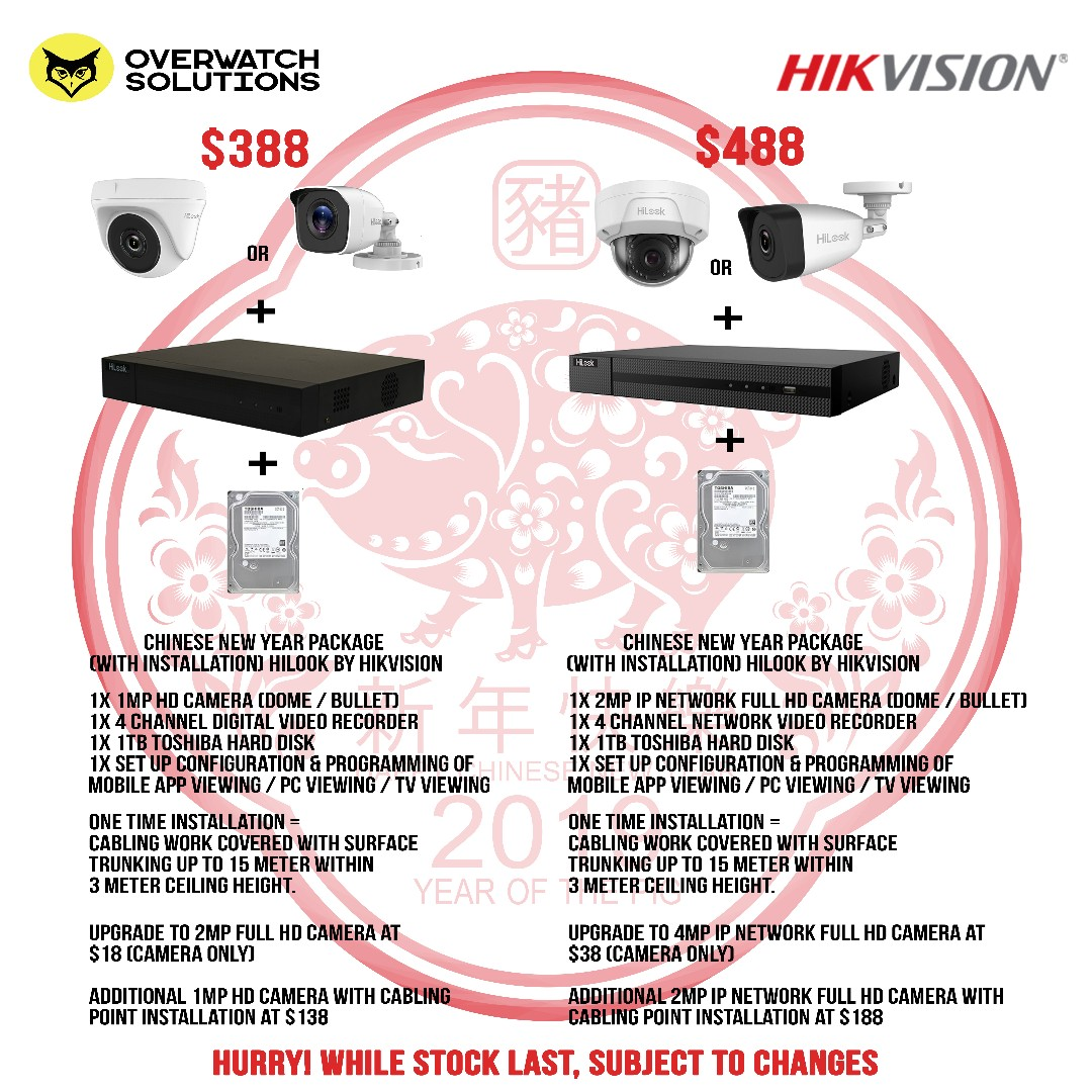 CCTV Promotion HD analogue Camera HiLook by Hikvision