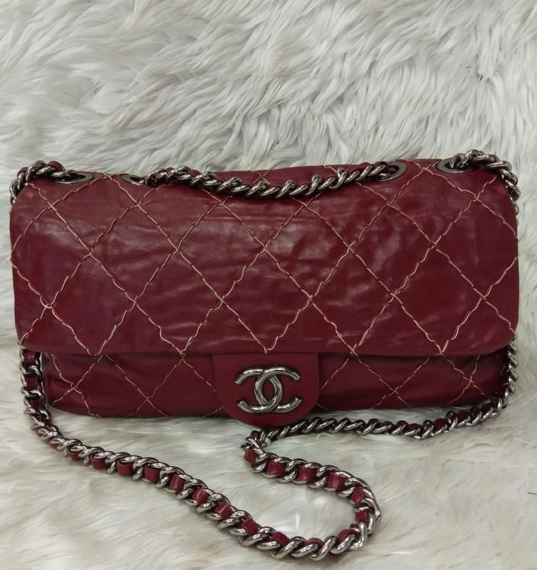 853ccb793ad6 Chanel Bag in Red, Luxury, Bags & Wallets on Carousell