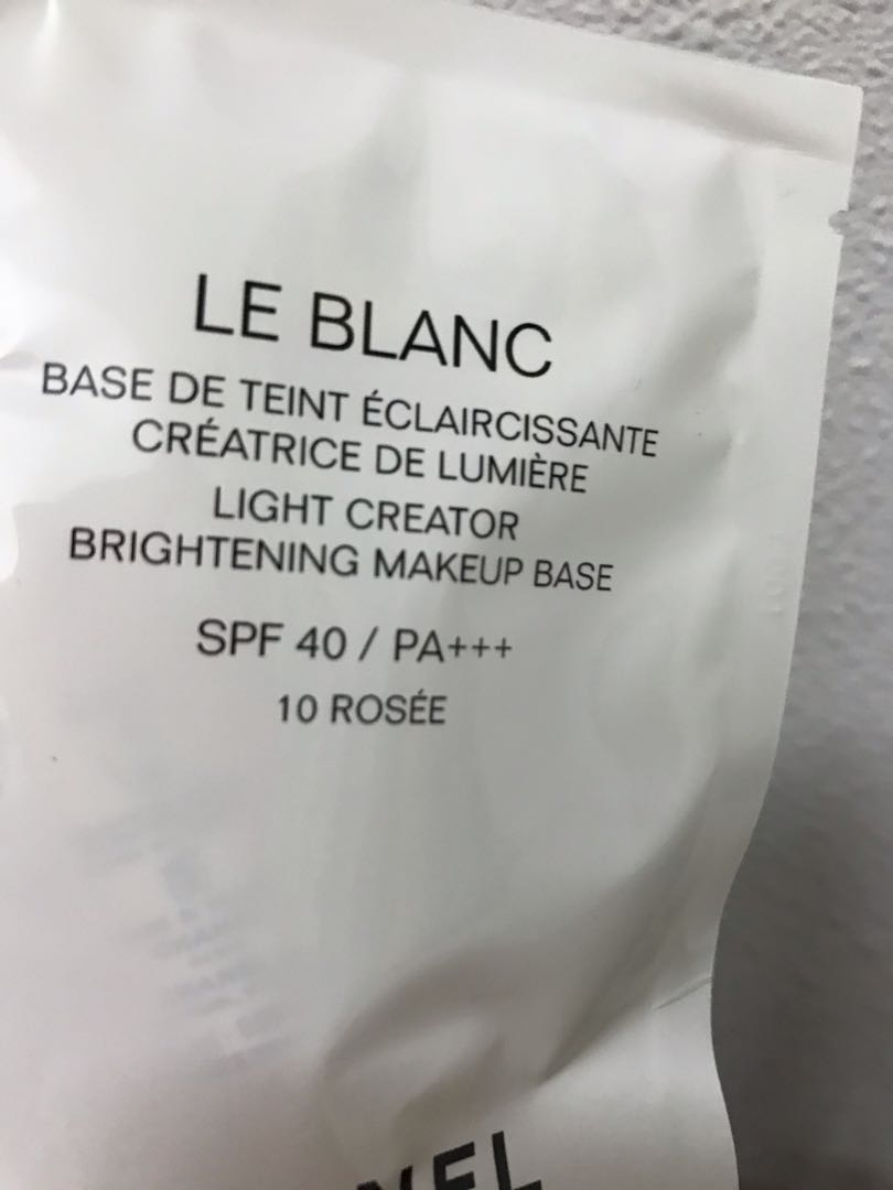 bb535731a3a Chanel Le Blanc light creator brightening makeup base