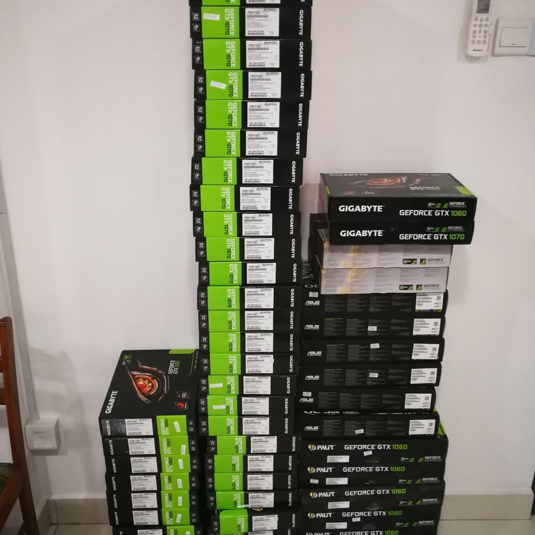 GTX 1060 ($160) & GTX 1070 ($300) USED