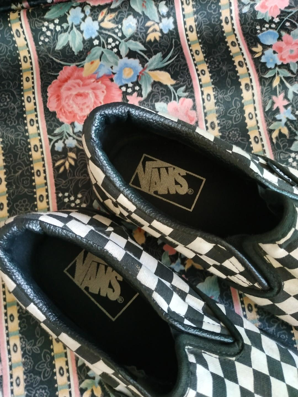 Checkerboard Black Slip On