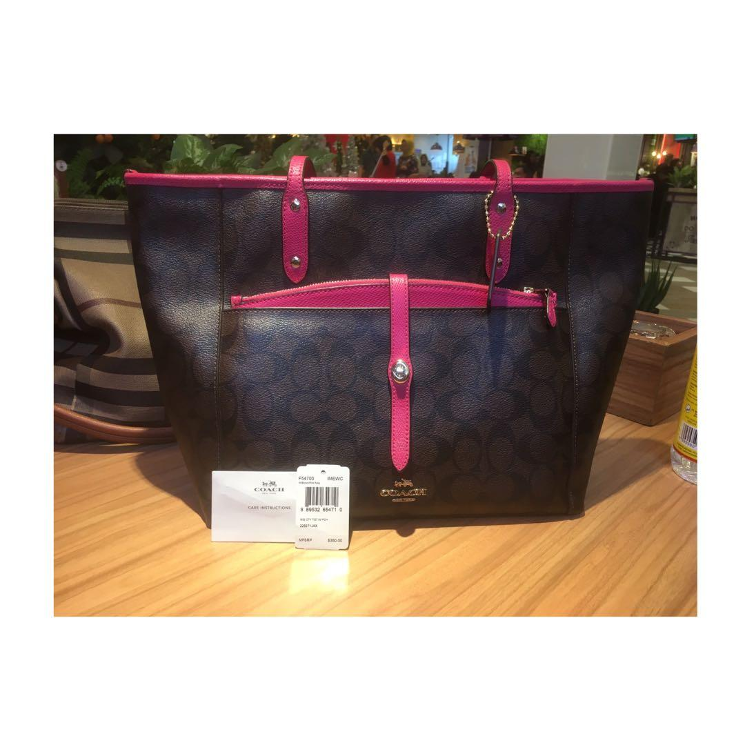 Coach Tote Bag with Pouch